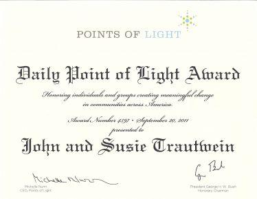 Point Of Light Award
