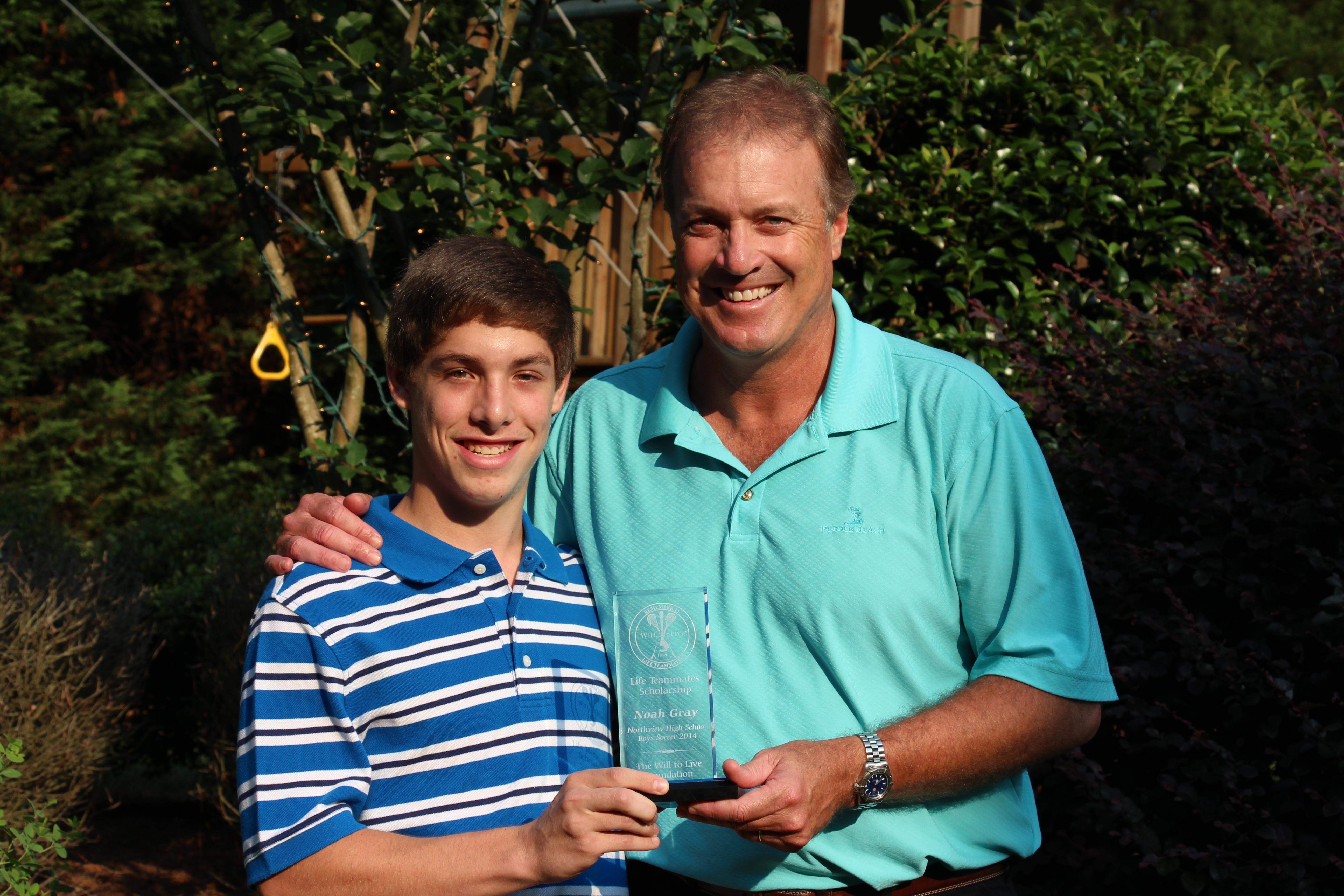 Noah Gray (Soccer - Duke) with John Trautwein