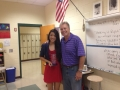 Jennifer Maharath (Basketball - GA State) with John Trautwein
