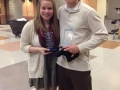 John Caras (Swim & Dive - UGA) and Amy Moore (Swim & Dive - USC)